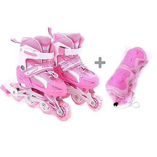 Girls-Inline-Skates-Adjustable-Rollerblades-for-Kids-Girls-Illuminating-Wheel-the-Premium-Breathable-Mesh-Roller-Skates-Double-Secure-Lock-0