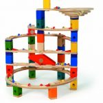 Hape-Quadrilla-Wooden-Marble-Run-Construction-Twist-and-Rail-Add-On-Set-0