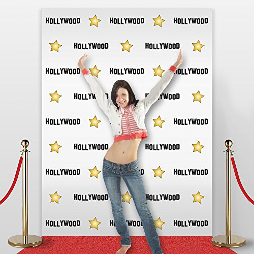 Hollywood Star Themed Step And Repeat Backdrop For Red