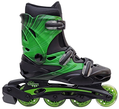 Inline-Skates-for-Adults-and-Kids-Linear-in-line-roller-skate-blades-Pain-Free-True-Fit-Non-slip-wheels-for-Men-Women-Boys-Girls-Green-Lazer-Purple-Camo-0-0