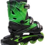 Inline-Skates-for-Adults-and-Kids-Linear-in-line-roller-skate-blades-Pain-Free-True-Fit-Non-slip-wheels-for-Men-Women-Boys-Girls-Green-Lazer-Purple-Camo-0-1