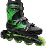 Inline-Skates-for-Adults-and-Kids-Linear-in-line-roller-skate-blades-Pain-Free-True-Fit-Non-slip-wheels-for-Men-Women-Boys-Girls-Green-Lazer-Purple-Camo-0