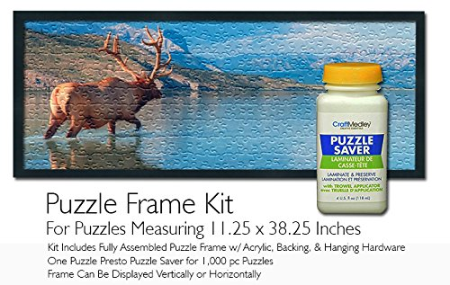 Jigsaw Puzzle Frame Kit Featuring Craft Medley Puzzle