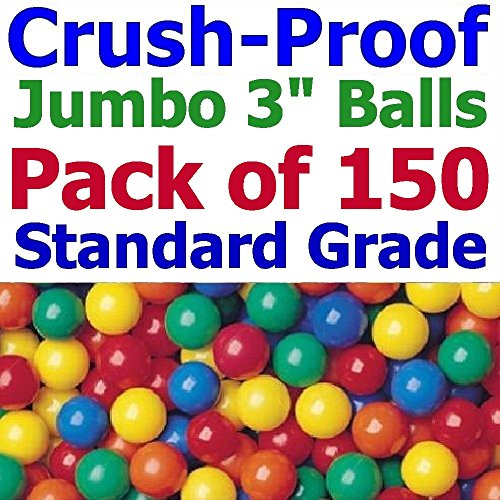 Jumbo-3-Size-My-Balls-Pack-of-150-Crush-Proof-Ball-Pit-Balls-5-Colors-Phthalate-Free-BPA-Free-Non-Recycle-Plastic-0