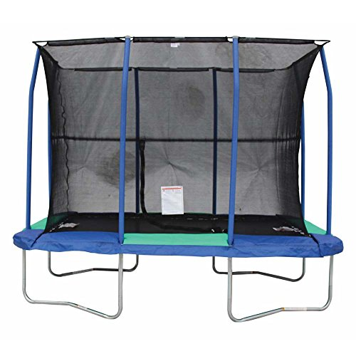 JumpKing 7 X 10 Foot Rectangular Trampoline With Padded