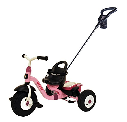 Kettler-Happy-Air-Navigator-Stella-Convertible-Tricycle-with-Push-Handle-for-Steering-and-Toy-Sand-Bucket-Toddler-Stroll-and-Ride-Trike-0-0
