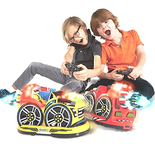 Kid-Galaxy-Remote-Control-Bumper-Cars-RC-2-Player-Game-2-Cars-and-2-Controllers-Included-0-0
