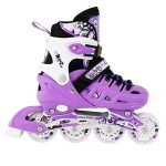 Kids-Adjustable-Inline-Roller-Blade-Skates-Long-Feng-Small-Medium-Large-Sizes-Safe-Durable-Outdoor-Featuring-Illuminating-Front-Wheels-0-0
