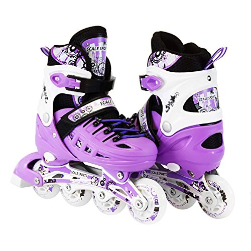 Kids-Adjustable-Inline-Roller-Blade-Skates-Long-Feng-Small-Medium-Large-Sizes-Safe-Durable-Outdoor-Featuring-Illuminating-Front-Wheels-0