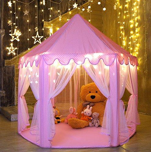 Kids Play House Princess Tent  Indoor And Outdoor Hexagon -9728