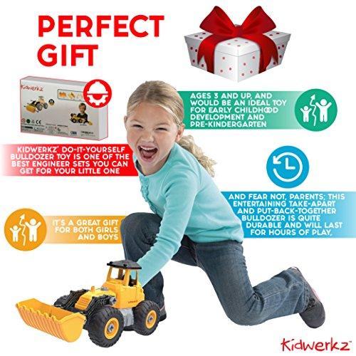 Kidwerkz Bulldozer Toy, Take Apart Toys Fun, Gift for 4 ...