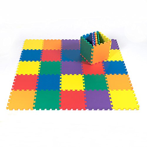 Kidzone-12×12-36-Piece-Kids-Baby-Play-Mat-Foam-Puzzle-Play-Mat-EVA-Non-Toxic-6-Colors-12-Thick-0