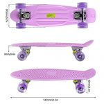 LESHP-Complete-22-Skateboard-Luminous-Skateboard-for-Kids-Boys-Youths-Beginners-and-Best-Gift-0-0