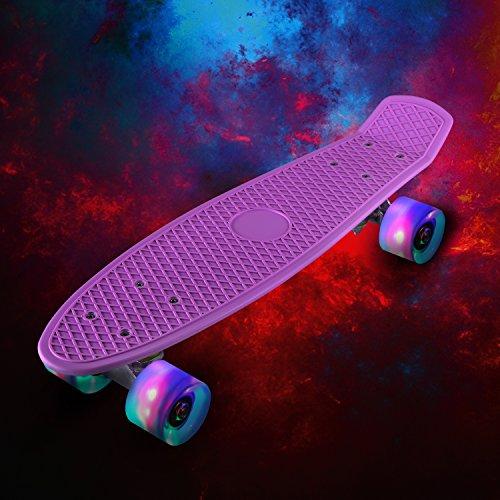LESHP-Complete-22-Skateboard-Luminous-Skateboard-for-Kids-Boys-Youths-Beginners-and-Best-Gift-0-2