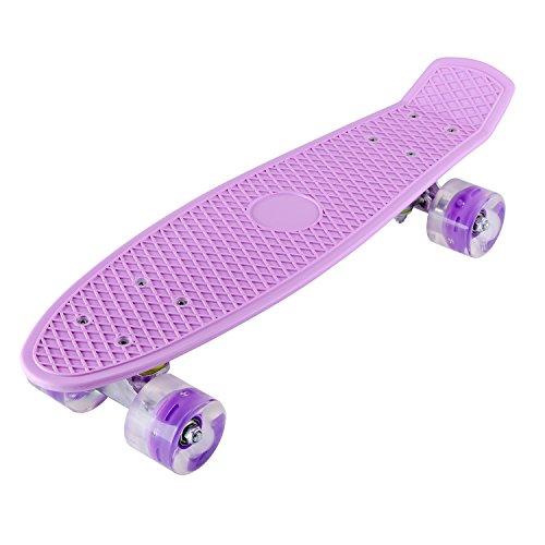 LESHP-Complete-22-Skateboard-Luminous-Skateboard-for-Kids-Boys-Youths-Beginners-and-Best-Gift-0