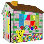 Littlefun-Kids-Foldable-Playhouse-Kit-Child-Premium-Paper-Construction-Markers-Included-0