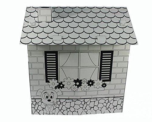Littlefun-Kids-Foldable-Playhouse-Kit-Child-Premium-Paper-Construction-Markers-Included-0-2