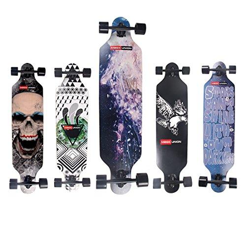 MAGIC-UNION-41-Inch-Maple-Drop-Down-Longboard-Complete-Skateboard-0