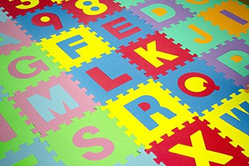 Matney Kid S Foam Floor Alphabet And Number Puzzle Mat Multicolor 36 Piece