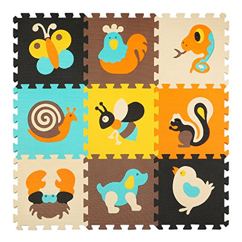 Meiqicool Baby Crawling Mat Puzzle Play Foam Tiles Non