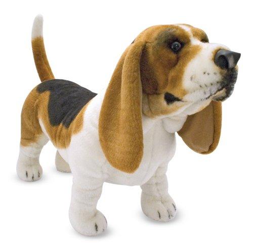 Melissa Doug Giant Basset Hound Lifelike Stuffed Animal Dog