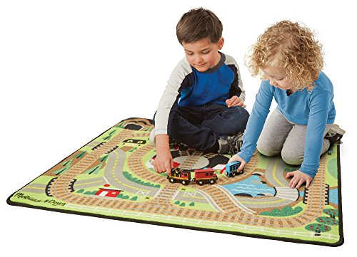Melissa Amp Doug Round The Rails Train Rug With 3 Linking