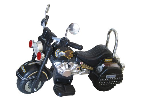 Battery Operated Ride On Toys >> Merske Harley Style 6V Battery Operated Kids Motorcycle, Black | Hobby Leisure Mall