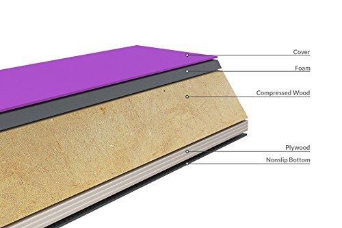 Milliard-Wood-Folding-Balance-Beam-95-Feet-Gymnastics-Floor-Beam-Wood-Base-with-Foam-Top-and-Carry-Handle-for-All-Level-Skill-Performance-Training-0-1