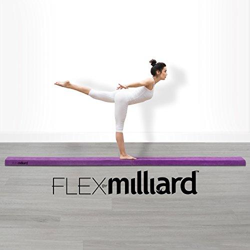 Milliard-Wood-Folding-Balance-Beam-95-Feet-Gymnastics-Floor-Beam-Wood-Base-with-Foam-Top-and-Carry-Handle-for-All-Level-Skill-Performance-Training-0-2
