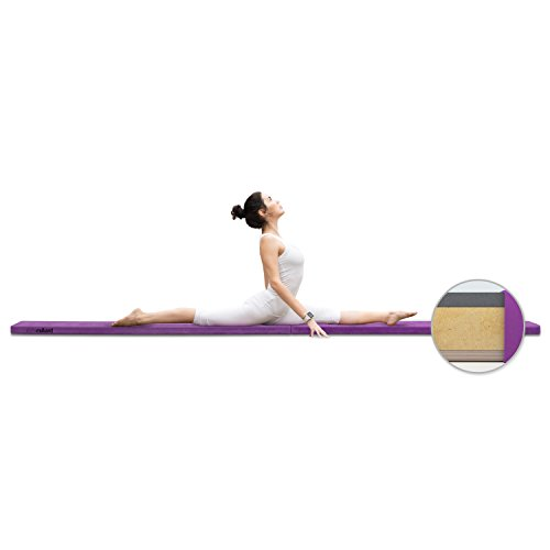 Milliard-Wood-Folding-Balance-Beam-95-Feet-Gymnastics-Floor-Beam-Wood-Base-with-Foam-Top-and-Carry-Handle-for-All-Level-Skill-Performance-Training-0