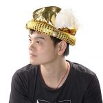 Mochiglory-Gold-Gypsy-Fortune-Teller-Arabian-Hat-Feather-Plume-Hats-Costume-Set-Party-Decor-0-2