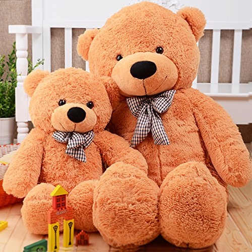 MorisMos-Giant-Teddy-Bear-Plush-Stuffed-Animals-Soft-Toys-For-Children-Kids-Girlfriend-55-14M-Brown-0-2