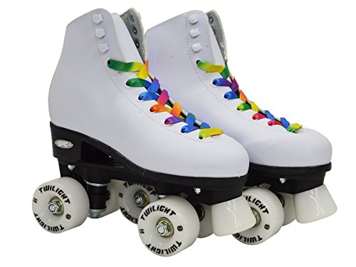 NEW-Epic-Allure-Twilight-High-Top-Quad-Roller-Skates-w-Rainbow-Twilight-LED-Light-Up-Wheels-Pom-Poms-0-1