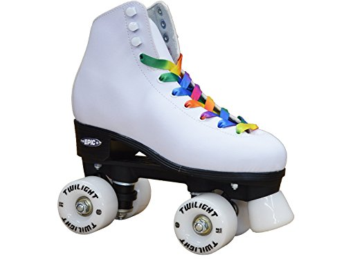NEW-Epic-Allure-Twilight-High-Top-Quad-Roller-Skates-w-Rainbow-Twilight-LED-Light-Up-Wheels-Pom-Poms-0
