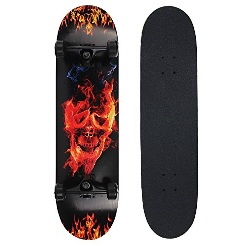 NPET-Pro-Skateboard-Complete-31-Inch-7-Layer-Canadian-Maple-Double-Kick-Concave-Deck-Skating-Skateboard-0