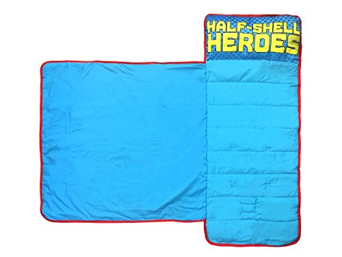 Nickelodeon-Teenage-Mutant-Ninja-Turtles-Half-Shell-Heroes-KidsToddlerChildrens-Nap-Mat-with-Built-in-Pillow-and-Blanket-Featuring–Raphael-Michelangelo-Leonardo-Donatello-0-0
