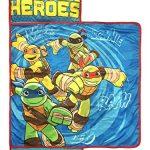 Nickelodeon-Teenage-Mutant-Ninja-Turtles-Half-Shell-Heroes-KidsToddlerChildrens-Nap-Mat-with-Built-in-Pillow-and-Blanket-Featuring–Raphael-Michelangelo-Leonardo-Donatello-0