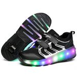 Nsasy-YCOMI-Unisex-Boys-Girls-LED-Light-UP-Single-Wheel-Double-Wheel-Shoes-Roller-Shoes-Roller-Sneakers-0