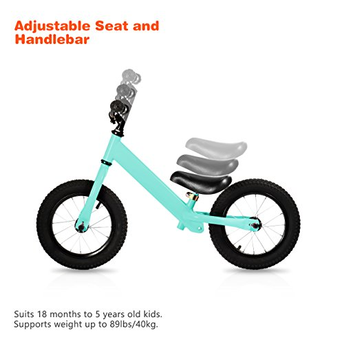 OMorc-Sports-Balance-Bike-Mini-Balance-Bike-for-Kids-from-18-Month-to-5-Years-Old-Adjustable-Seat-and-Handlebar-Durable-Bearing-and-Frame-Soft-Cushion-Seat-Blue-0-0