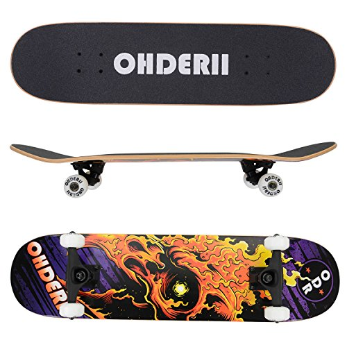 Ohderii-Skate-Skateboards-31-X-8-Skateboard-Cruiser-Through-Downhill-Canadian-Maple-7-layers-0