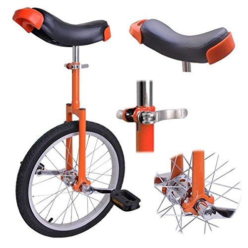 Orange-18-Inch-18-Unicycle-Cycling-Bike-With-Adjustable-Saddle-Seat-0-0
