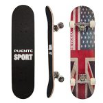PUENTE-31-Inch-Complete-Skateboard-8-Layer-Canadian-Maple-Wood-Double-Kick-Concave-Skateboards-Tricks-Skate-Board-for-Beginners-and-Pro-0