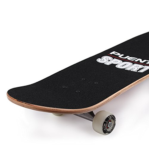 PUENTE-31-Inch-Complete-Skateboard-8-Layer-Canadian-Maple-Wood-Double-Kick-Concave-Skateboards-Tricks-Skate-Board-for-Beginners-and-Pro-0-2