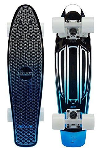 Penny-Board-22-Inch-Blue-Silver-Fade-Complete-0