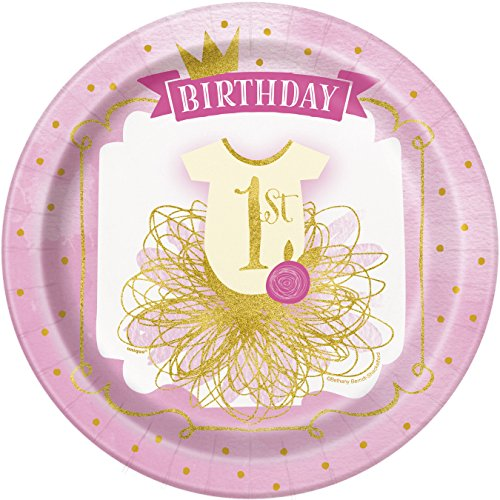 I Am One Pink And Gold Birthday Party Decorations One High: Pink And Gold 1st Birthday Party Bundle Plates, Napkins