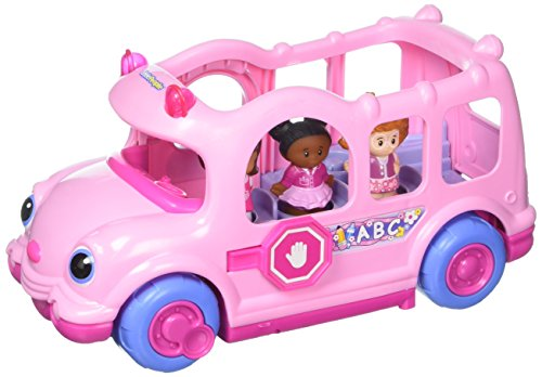 Electric Vehicles For Kids >> Pink Lil' Movers School Bus Little People by Fisher-Price ...