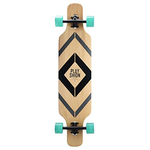 Playshion-Freeride-Freestyle-Drop-Through-Longboard-Skateboard-Complete-39-Inch-0-1