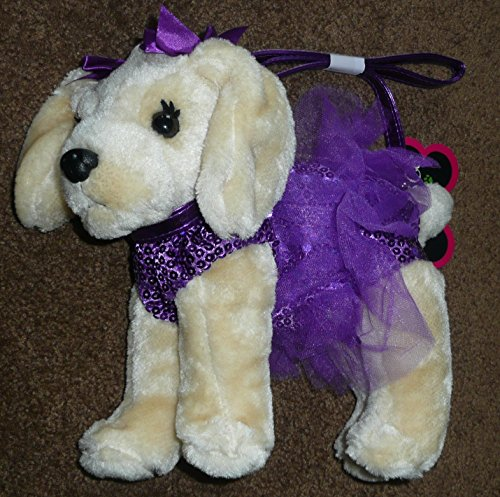 Poochie-Co-Girls-Plush-Lab-With-Purple-Sequins-and-Tutu-0