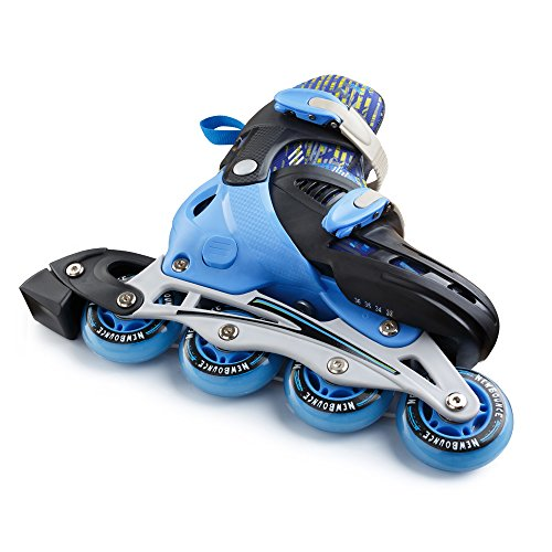 Premium-Roller-Skate-by-New-Bounce-4-Wheel-Inline-Rollerblades-for-Kids-Outdoor-Skating-for-Beginners-Advanced-Pink-Or-Blue-0-1