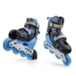 Premium-Roller-Skate-by-New-Bounce-4-Wheel-Inline-Rollerblades-for-Kids-Outdoor-Skating-for-Beginners-Advanced-Pink-Or-Blue-0-2